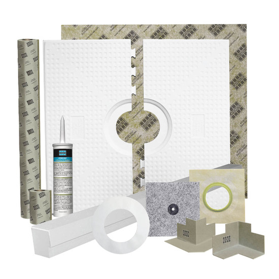 Laticrete Hydro Ban Pre-Sloped Shower Installation Kit Components