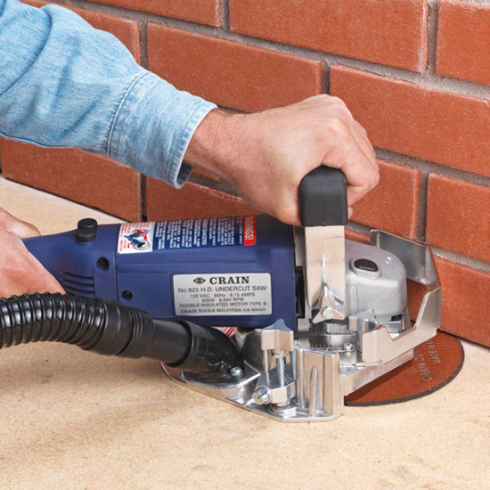 crain 825 undercut masonry action Undercuts walls, jambs, inside corners, and even most toe-spaces