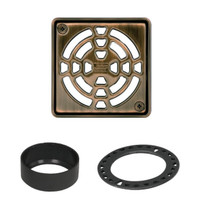 Schluter Kerdi 4 inch Oil Rubbed Bronze Shower Drain Grate