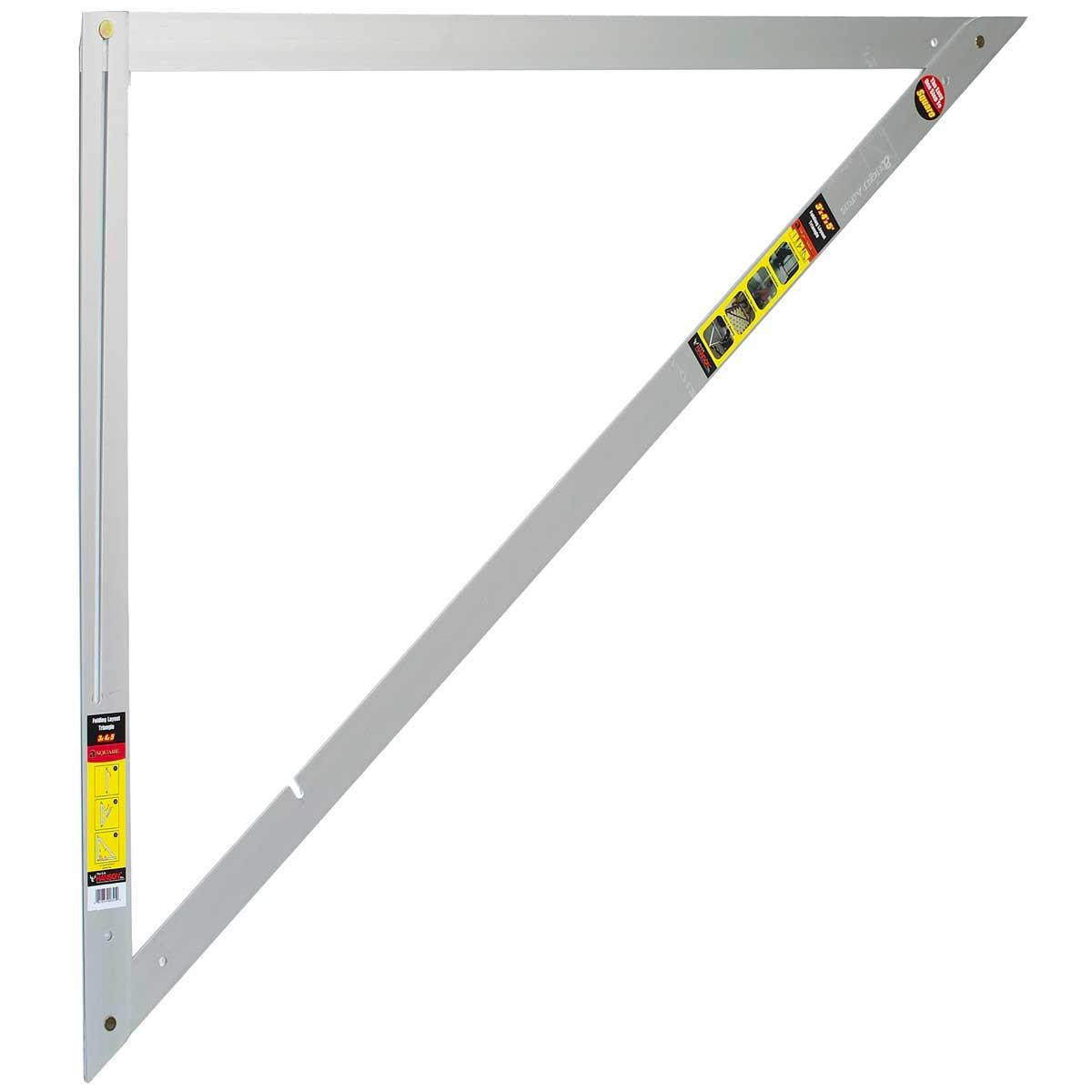 a square aluminum folding layout tool