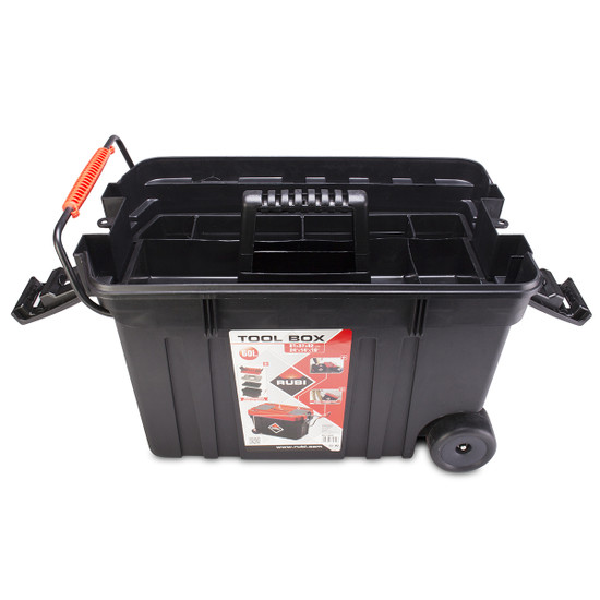 71954 Rubi Rolling Tool Box inside tray compartment