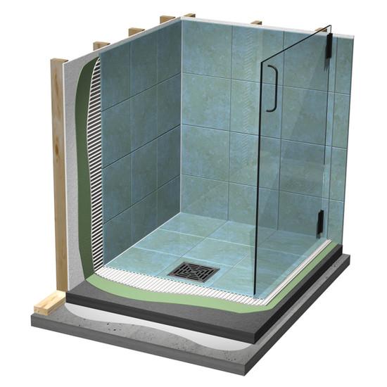 Laticrete Hydro Ban Waterproof Shower Stall