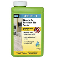 STONETECH Quartz & Porcelain Tile Sealer Quart for countertops, backsplashes, floors and walls