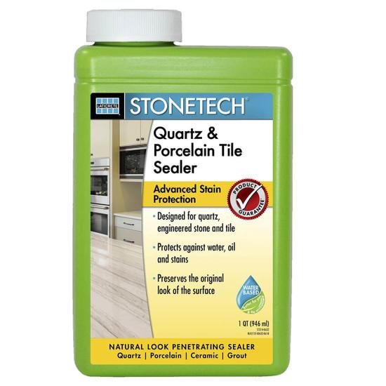 STONETECH Quartz & Porcelain Tile Sealer Quart for countertops, backsplashes, floors and walls