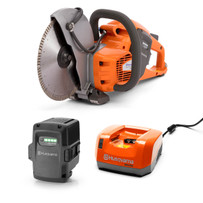 Husqvarna K535i Power Cutter Kit with BLi200 Battery, QC330 Charger and Diamond Blade