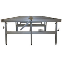 ETM Gauged Porcelain Tile Panels Cutting Table Strong adjustable aluminum sections for cutting out sinkholes, water lines, and electrical outlets