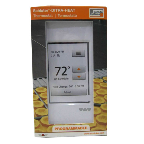 DHERT104/BW DITRA-HEAT-E WiFi touchscreen thermostat used to control the DITRA-HEAT-E-HK heating cables