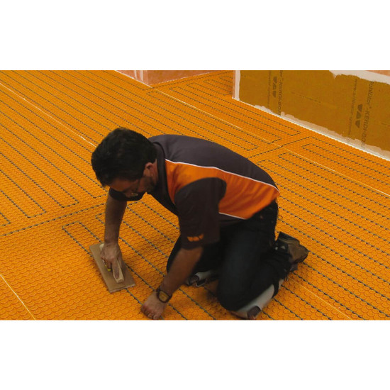 Schluter system DITRA-HEAT-E-HK 240 Volt Heating Cable snaps into the dh512m membrane
