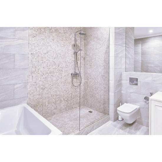 Schluter KERDI-SHOWER With Mosaic Tile and Shower Curb