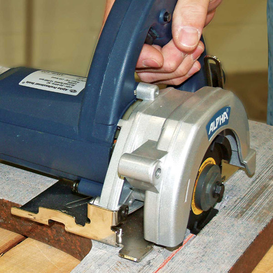 Alpha AWS110 Tile Circular Saw Cut Tile
