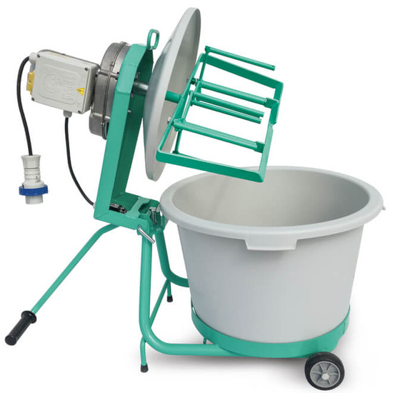 1193988 IMER MINI-MIX 60 mix all tilt-able machine arm allows easy bucket exchange
