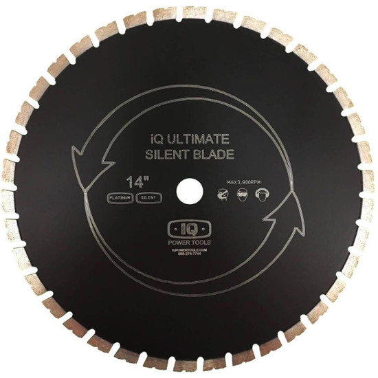"iQ Power Tools MAS14-125AP-QT 14"" Platinum Silent Core Masonry Blade"