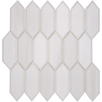 Interceramic Marble Dolomite White Buckingham Palace Polished Mosaic 12x12 sheet