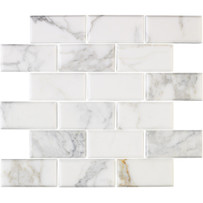 Interceramic Marble Calacatta Gold Mosaic Tile