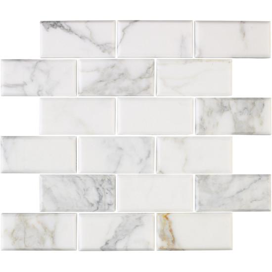 Interceramic Marble Calacatta Gold Mosaic Tile