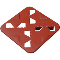 LTIP Raimondi Isola Island Platform Elevated 1-1/2 in. so you can walk across set tile floors. Great for setting closets