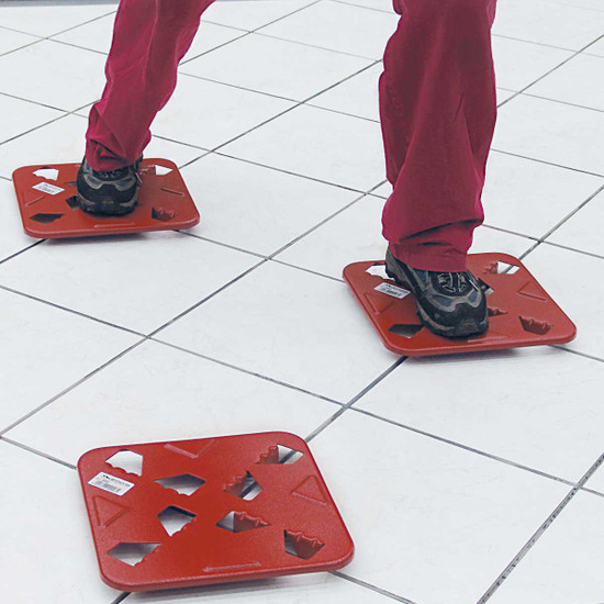 raimondi isola platforms These sturdy metal platforms allow you to maneuver across freshly set tiles before grouting