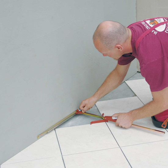 Floor Tile Layout with Raimondi All Angle Guide