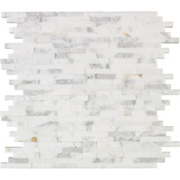 "Interceramic Marble Calacatta Gold Sticks Hi/Lo 12"" x 12"" Sheet"