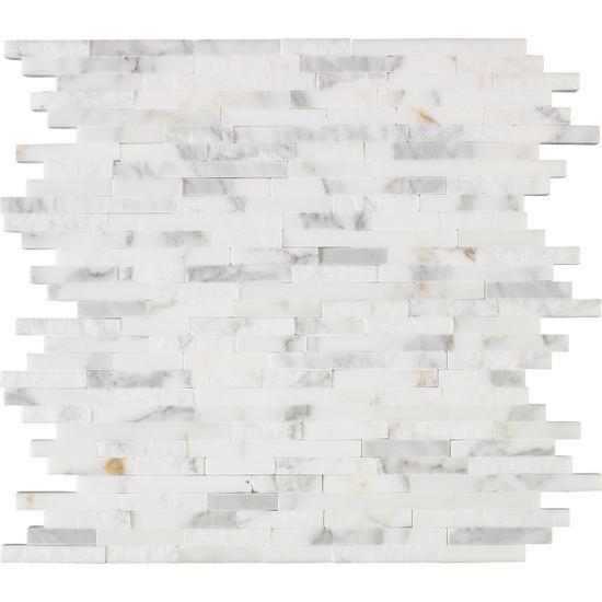 "Interceramic Marble Calacatta Gold Sticks Hi/Lo 12"" x 12"" Sheet"