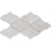 "Interceramic Marble Iceberg 4-1/2"" x 6"" Taj Mahal Polished Mosaic 9"" x 12"" Sheet"