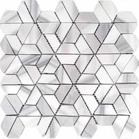 "Interceramic Marble Marmara Vein Cut 2"" x 2"" Split Hexagon Polished Mosaic 10"" x 12"" Sheet"