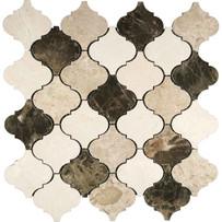 """Interceramic Marble Natural Blend 2"""" x 2"""" Lantern Polished Mosaic 12"""" x 12"""" Sheet"""