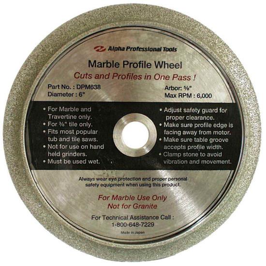 Alpha DPM638 Marble Profile Wheel