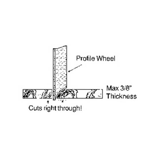 DPM638 Alpha 6 inch Marble Profile Wheel