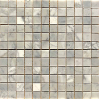 "Interceramic Marble White Carrara 1"" x 1"" Mosaic Polished 12"" x 12"" Sheet"
