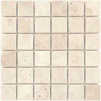 Interceramic Turkish Travertine tumbled mosaic tile