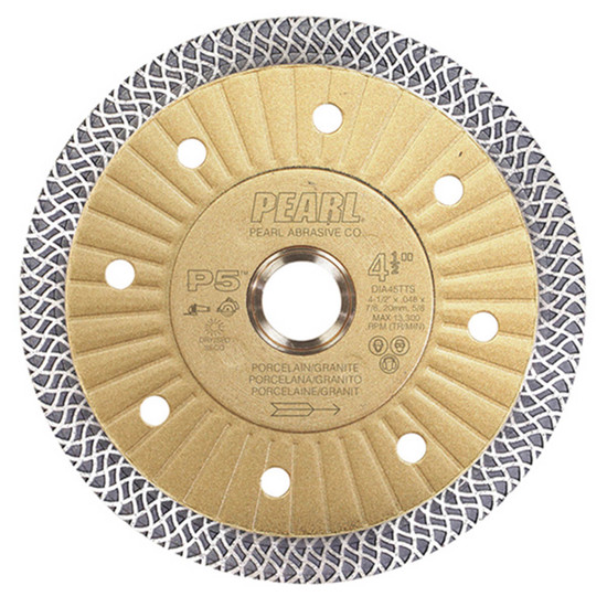 "Pearl Abrasive P5 4-1/2"" Thin Turbo Mesh Blade"