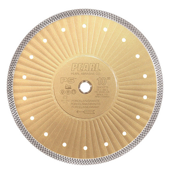 "Pearl Abrasive P5 10"" Thin Turbo Mesh Blade"