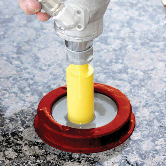wet core drilling with suction ring