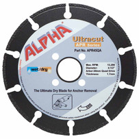 "Alpha Ultracut APR Series 4-1/2"" Diamond Blade (Quad Drive)"