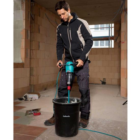 Collomix xo1 single speed mixer featuring the very latest ergonomic handle design