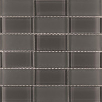 Graphite Tile Stacked Mosaic