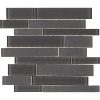 Brilliance Graphite Linear Mosaic Mixed Tile