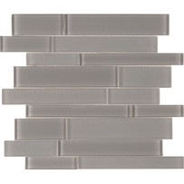 Brilliance Gray Linear Mosaic Mixed Tile