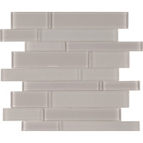 Brilliance Taupe Mosaic Tile Linear Mixed