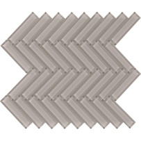 Brilliance Taupe Herringbone Mosaic Tile