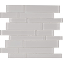 Brilliance White Linear Mosaic Mixed Tile