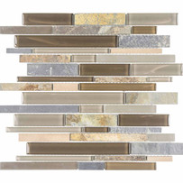 Chelsea Glass Slate Linear Mosaic Tile