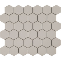 Foundation Gray Hexagon Mosaic Tile