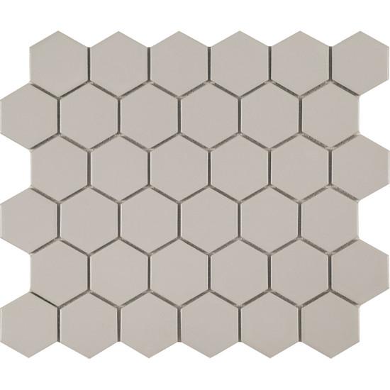 Foundation Gray Hexagon Mosaic Tile