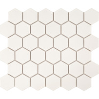 Foundation White Matte Hexagon Mosaic Tile