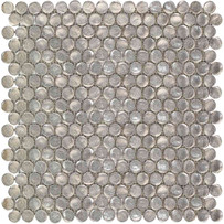 Interglass Penny Rounds Champagne Mosaic Tile