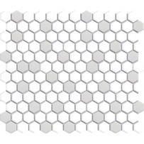 Restoration Gray and White Mosaic Tile