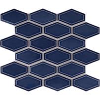 Waterford Blue Beveled Long Hexagon Mosaic Tile