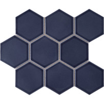 Waterford Blue Hexagon Mosaic Tile